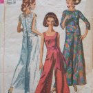 Vintage 60s Simplicity 7023 Jumpsuit and Over blouse Pattern Wide Leg Round Neckline