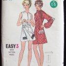 Vintage 60s Butterick 5849 Jewel Neck Mod A-Line Mini Dress and Scarf Pattern Size 14
