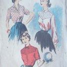 Vintage 50's Advance 5828 Shaped Yoke Blouse Pattern Size 16