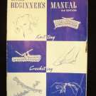 Vintage 40s Star Book No 62 Revised Beginners Manual Knitting Crocheting and Tatting