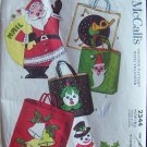 Vintage 50s McCall's No 2344 Christmas Mail Tote Bag Pattern For Felt Uncut