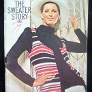 Vintage 70s Coats and Clark Book No 211 Sweater Story Knitting and Crochet Pattern Instructions