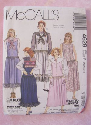 90s Retro Glamour Fashion Doll Clothes Pattern McCalls 2549 Uncut