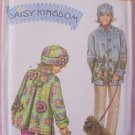Simplicity  4805 Daisy Kingdom Mother Daughter Fleece Coat Hat Sewing Pattern Uncut