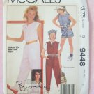 Vintage McCall's  9448 Brooke Shields Collection Girls Jumpsuit Pattern Uncut Size 8