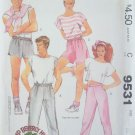 Vintage 80s McCall's  9531 Camp Beverly Hills Unisex Pants and Shorts Sewing Pattern Uncut