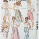 Retro 80s Easy McCall's  9525 Skirt Culottes and Pants Sewing Pattern Size 16 Uncut