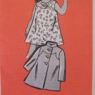 Vintage 60s Mail Order Pattern Style 4549 Girl's Tab Front Dress and Coat size 8