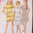 Vintage 60s Simplicity  7142 Square Neck A-Line Dress Pattern Size 9