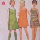 Vintage 60s Butterick 4860 Junior's Mini Sundress Dress or Jumper and Shorts Pattern