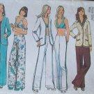 Vintage 70s Simplicity 5573 Cardigan Bra Hip Hugger Pants Sewing Pattern