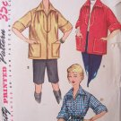 Vintage 50s Simplicity  4767 Poncho Shirt Jacket Sewing Pattern Size 12