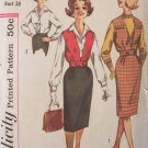 Vintage 60s Simplicity  3590 Teen Blouse Jacket and Skirt Sewing Pattern