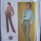 Retro 80s Simplicity  9589 Misses Straight Leg Trousers Pants Pattern Uncut Size 16