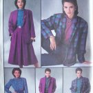 Retro 80s Simplicity  7687 Blouse Pants Skirt Lined Jacket Pattern Uncut Size 14