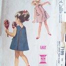 Vintage 60s McCall's  7109 Girls Wrap Back Summer Sun Dress Pattern