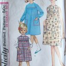 Vintage 60 Simplicity 5417 Girl's One Piece Dress or Jumper Sewing Pattern