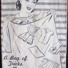 Vintage A Bag of Tricks for Home Sewing Booklet by The National Cotton Council Superior Feed Mills