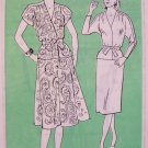 Retro 80s Mail Order Dress Pattern No 4039 Skirt Belted Top Uncut Size 18-22