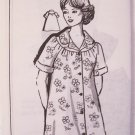 Retro 80s Patt-O-Rama 8134 Day House Dress or Robe Sewing Pattern Uncut Size 40