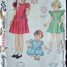 Vintage 40s Simplicity  1787 Princess Seam Coat Dress Pattern Size 2 Peter Pan Collar