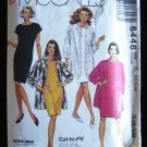 Easy McCall's  6446 Oversized Shirt Jacket and Dress Sewing Pattern Size 14