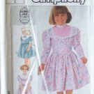 Retro 80s Simplicity  7406 Gunne Sax Girl's Party Dress Pattern Uncut Size 4