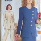 Butterick  4262 Jacket Skirt and Pants Suit Pattern Uncut Size12-16 Asymmetrical Front