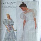 Retro 80s Simplicity  8610 Gunne Sax Lace Yoke Top Dress Pattern Puff Sleeve Size 14