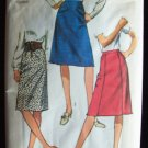 Vintage 70's Simplicity  9267 A-Line Straight or Gored Skirt Sewing Pattern
