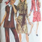 Vintage 70s Simplicity 9170 Tunic Top Pants or Dress Sewing Pattern Size 16