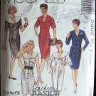 McCall's  5302 Double or Single Breasted Dress Pattern Large Collar Long Short or Sleeveless