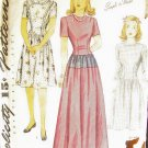Vintage 40's Simplicity No 4553 Teen Girl's Day or Evening Dress Pattern