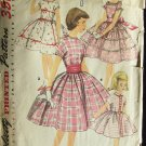 Vintage 1950's Simplicity No 1707 Girl's Party Dress and Cummerbund Pattern Full Skirt