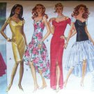 Retro Butterick 6646 Classics Formal Evening Gown Asymetrical Dress Pattern