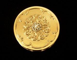 Vintage Max Factor Golden Pearl Jeweler�s Compact Crème Puff Original Box