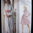 Vintage 70s Vogue Americana  2880 Oscar De La Renta Shirtwaist Evening Dress Pattern Uncut