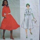 Vintage 70's Vogue  1386 American Designer Anne Klein  Flared Skirt Shirt Dress Pattern Uncut