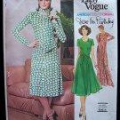 Vintage 70s Vogue 1547 Diane Von Furstenberg Scoop Neck Dress Pattern American Designer Original