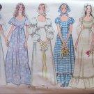 Vintage 70s simplicity 9825 Low Round Neckline Wedding Bridal Gown Dress Pattern Uncut size 12