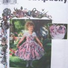 Simplicity 9450 Daisy Kingdom Girls Dress Hat Purse and Bow Pattern Uncut Size 7-12