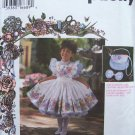 Daisy Kingdom Simplicity  9455 girl's Dress Pinafore Purse and Hairbow Pattern Uncut