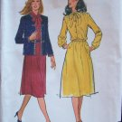 Vintage Butterick  3303 Cardigan Neck Jacket and Dress Pattern Uncut Size 10-14