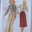 Butterick 3322 A-Line Skirt Pattern Inverted Pleat Evening Length Uncut Size 8