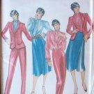 Butterick 3355 Jacket Jabot Blouse Skirt and Pants Sewing Pattern Uncut Size 14