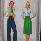 Butterick 3388 Straight Leg Pants A-Line Skirt Pattern Uncut Size 16