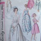 Vintage 60s Simplicity 5343 Wedding Bridesmaid Evening Dress Pattern Detachable Train