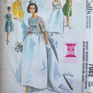 Vintage 60s McCall's 7082 Wedding Bridal Gown Bridesmaid Dress Pattern Size 12