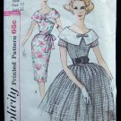 Vintage Simplicity 3422 Large Collar Wiggle or Full Skirt Dress Pattern Size 12
