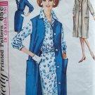 Vintage 60s Simplicity 5350 Notched Collar Shirtwaist Dress Sleeveless Coat Pattern Size 14